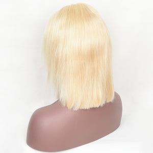 613 Blonde Staight Frontal Bob Wig 4*4 Closure Wig 10-14 Inch Available| Bridger Hair