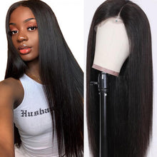 Load image into Gallery viewer, 13*4 Straight Lace Frontal Wig Straight Human Hair Wigs T Part Wig 10-30 Inch| Bridger Hair
