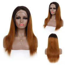 Load image into Gallery viewer, Customzied 1B/33 Straight Lace Front Wig Bridger Hair