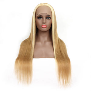 Customized Golden Money Highlight Straight T Part Lace Front Wig | Bridger Hair