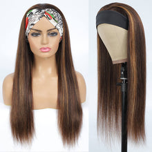 Load image into Gallery viewer, Highlight Straight Headband Wig Human Hair Wig #4/27 Color | Bridger Hair