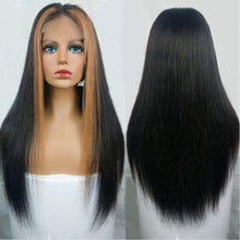 Load image into Gallery viewer, highlight straight wig bridger hair long straight wig