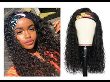 Load and play video in Gallery viewer, Water Curly Headband Wig Human Hair Wig| Bridger Hair