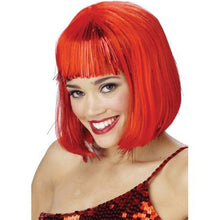 Load image into Gallery viewer, Customized Red Straight Wig Bob Wig with Bangs| Bridger Hair