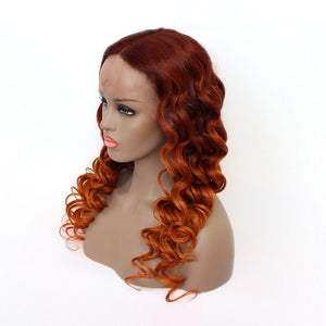 ombreorangecolorTPartLaceWigBridgerHair