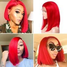 Load image into Gallery viewer, Customized Bob Wig Straight 13*4 Lace Front Bob Wig T Part Lace Front Wig| Bridger Hair