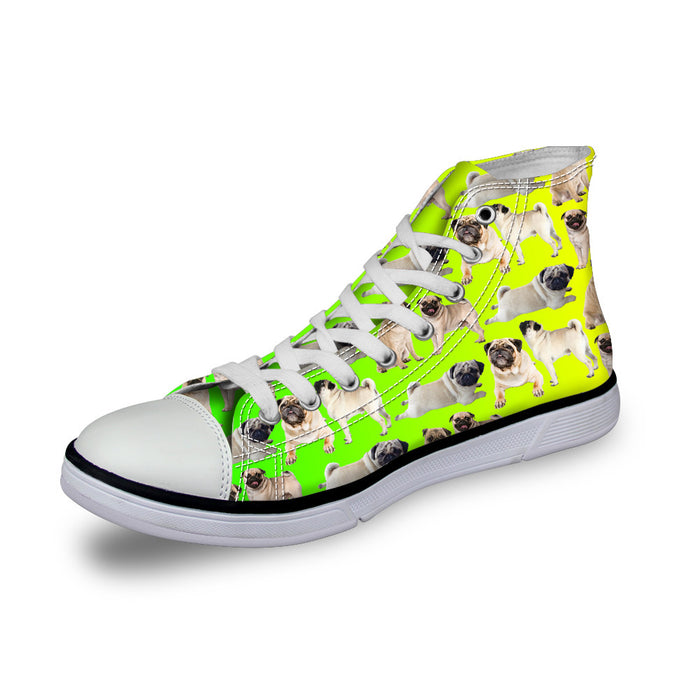 Flat Sports Harajuku Style High-Top Canvas Lace Up Shoes