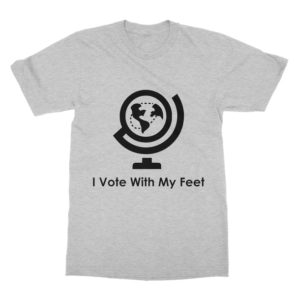 I Vote With My Feet Collection Softstyle T-Shirt