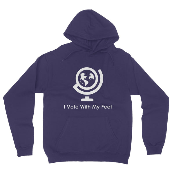 I Vote With My Feet Collection Fleece Pullover Hoodie