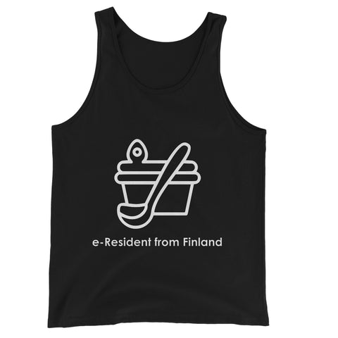 E-Residency Collection: Finland Unisex Jersey Tank Top