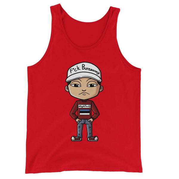 F*ck Bureaucracy: Nomad Mike Collection  Unisex Jersey Tank Top