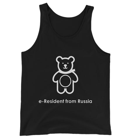 E-Residency Collection: Russia Unisex Jersey Tank Top