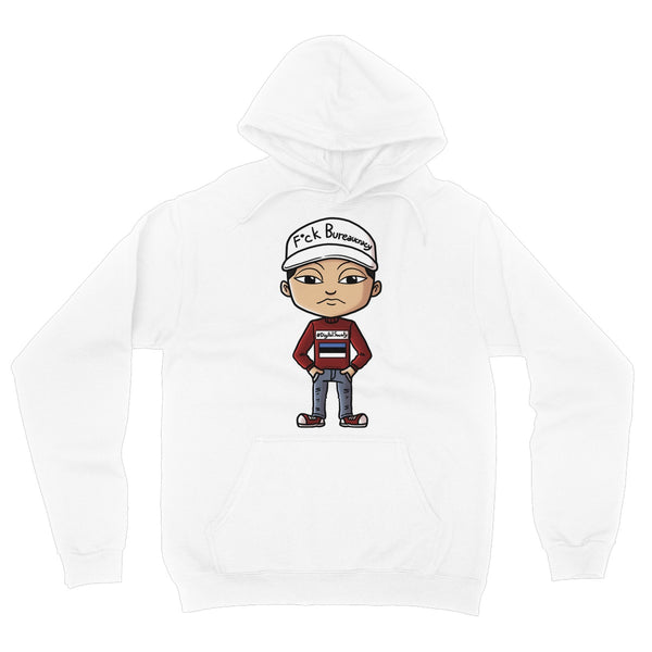 F*ck Bureaucracy: Nomad Mike Collection  Fleece Pullover Hoodie