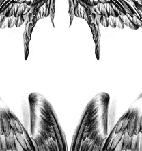 Load image into Gallery viewer, 2 x realistic wing  tattoo design high resolution download
