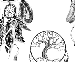 3 x Realistic sexy dreamcatchers tattoo design high resolution download