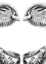 Load image into Gallery viewer, 2 x realistic sexy wing tattoo design high resolution download