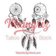 Load image into Gallery viewer, 3 x sexy dreamcatchers tattoo design high resolution download