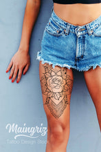 Load image into Gallery viewer, Mandala with rose tattoo design