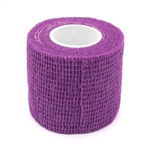 purple bandage cohesive wrap for tattoo session by tattoodesignstock