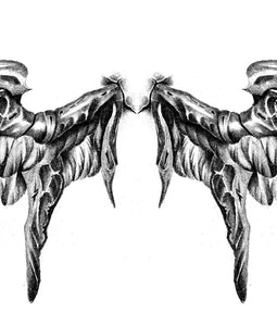 Realistic wing  tattoo design high resolution download