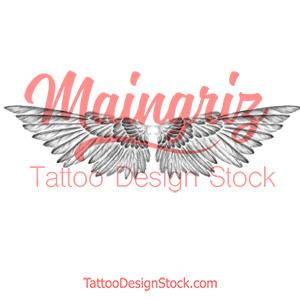 Sexy wing  tattoo design high resolution download