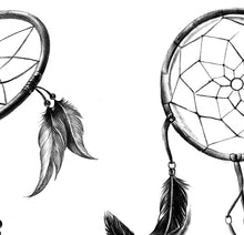 Load image into Gallery viewer, 3 x Realistic dreamcatchers  tattoo design high resolution download