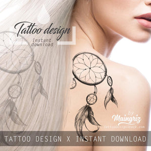 3 x Sexy realistic dreamcatchers  tattoo design high resolution download