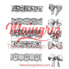 Load image into Gallery viewer, sexy lace tattoo design high resolution download by tattoo artist