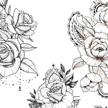 Load image into Gallery viewer, sexy oriental roses mandalas sexy girls tattoo ideas