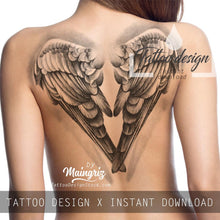 Load image into Gallery viewer, 2 x realistic sexy wing - download tattoo design