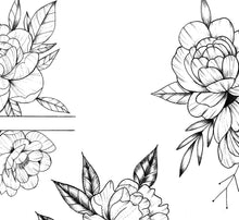 Load image into Gallery viewer, 5 x sexy Peony linework design download high resolution download