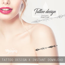 Load image into Gallery viewer, 3 Arrow tattoo design high resolution download