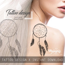 Load image into Gallery viewer, Dreamcatcher realistic sexy tattoo design high resolution download
