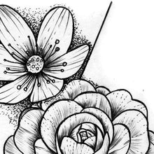 Load image into Gallery viewer, Flowers for arms Tattoo design