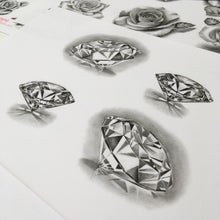 Load image into Gallery viewer, 10 amazing realistic diamonds tattoo design references high resolution download
