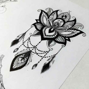 amazing lotus mandala tattoo design references for tattoo shop