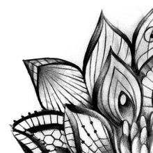 Load image into Gallery viewer, Lotus Mandala Tattoo Design