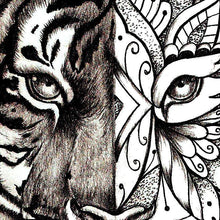Load image into Gallery viewer, Mandala Tiger tattoo design references created by tattoo artist