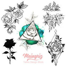 Load image into Gallery viewer, 5 originals roses tattoo design for tattoo artists