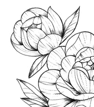Load image into Gallery viewer, Peony linework forearm  - tattoo design download