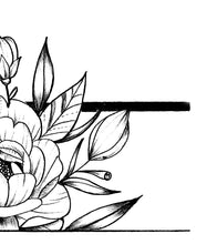 Load image into Gallery viewer, Sexy peony linework forearm high resolution download