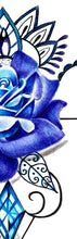 Load image into Gallery viewer, Precious stone with sexy realistic rose  tattoo design high resolution download