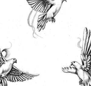 10 x Realistic dove tattoo design high resolution download