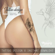 Load image into Gallery viewer, 10 x Realistic dove tattoo design high resolution download