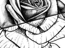 Load image into Gallery viewer, 3 x Realistic rose tattoo design high resolution download
