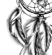 Load image into Gallery viewer, Realistic dreamcatcher with feather  tattoo design high resolution download