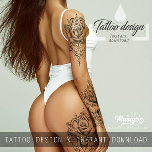 amazing selections of hundreds sexy tattoos for girls in instant download