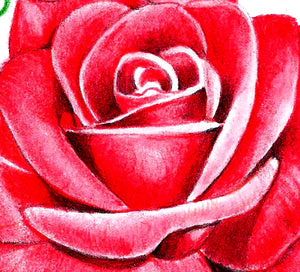 Sexy realistic rose with precious stone tattoo design high resolution download