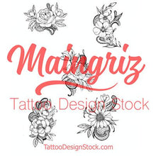 Load image into Gallery viewer, sexy flowers and lace tattoo design high resolution download