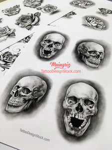 4 amazing realistic skulls for your custom sleeve tattoo design high resolution download by tattoo artist